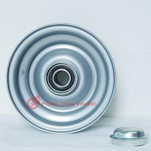 Hot Sale marque Forlong 9X4.00 jante en acier avec le roulement pour remorque caravane 6.00-9 des pneus