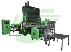 Contenedor de papel de aluminio totalmente automática máquina de hacer de la bandeja de aluminio desechables Paquete Línea de producción de maquinaria Ungar-055 de la ONU