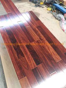Superfície de textura de madeira pisos laminados Material de construção à prova de AC3 piso laminado