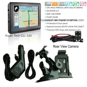 OEM 4.3 車の手段のトラックBluetooth GPSの航法システムのマップ、速度のカメラ、後部駐車が付いているNavitelのマップとの携帯用GPSの操縦士GPSの運行PDA
