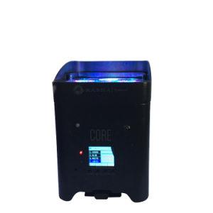 Core APP Mobile WiFi inalámbrica funcionan con batería de la luz de lavado a la par de LED