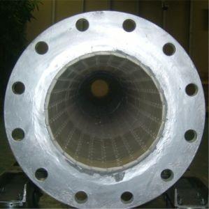 Alto tubo d'acciaio rivestito dell'allumina dell'abrasione anello di ceramica resistente