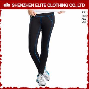 Custiomisedの黒いスポーツの適性のレギングの女性のヨガのズボン(ELTFLI-29)