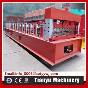 Feuille d'acier de haute qualité panneau trapézoïdal tuile de toit machine à profiler