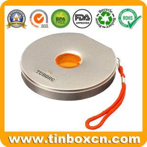 CD de metal com uma corda da caixa de estanho para embalagem Caixa de DVD