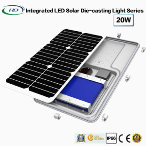 20W赤外線統合されたLEDの太陽ダイカストで形造る庭ライト
