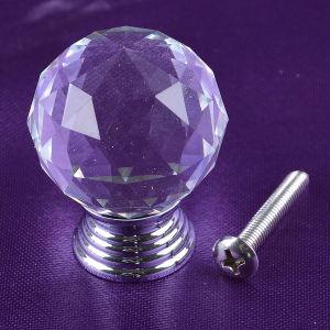 Fábrica de 40mm Bola de cristal transparente la perilla de Puerta del cajón archivador