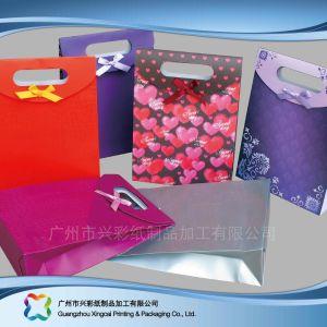 쇼핑 선물 옷 (XC-bgg-003)를 위한 인쇄된 종이 포장 운반대 부대