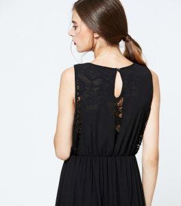 長い一つの服の女性2017の卸し売り黒く軽くて柔らかい袖なしのセクシーなプロムDress