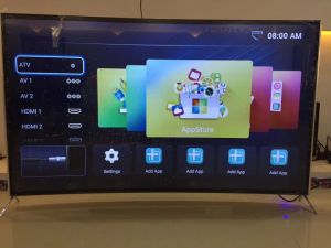 4K UHD TV LED curvo 55 65 3D TV LCD inteligente