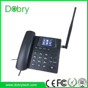 3G WCDMA Landlind inalámbrico Bluetooth WiFi teléfono teléfono de escritorio con sistema Android de la tarjeta SIM de radio FM MP3.