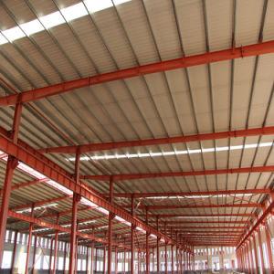 広いスパンの鉄骨構造の建築構造の建築材料