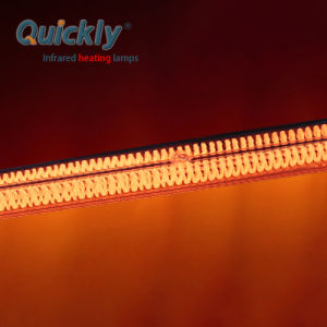 Filamento de carbono Tubo duplo aquecimento industrial infravermelhos 235V 1000W