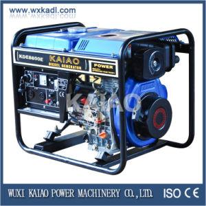 6KW gerador diesel de estrutura aberta tanto lado começar e a Chave de Partida com marcação ISO