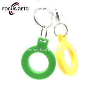 인쇄할 수 있는 소매 지불을%s 로고에 의하여 주문을 받아서 만들어지는 RFID Keyfob 꼬리표
