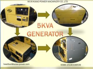 Pequeno gerador diesel para uso doméstico 3KW, 5KW, 6 kw