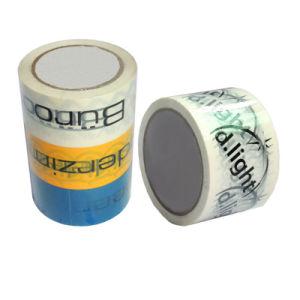 Band van de Verpakking van de douane BOPP de Embleem Afgedrukte Zelfklevende