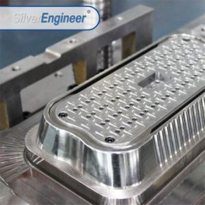 Fabricado na China com folha de alumínio Takeaway Populares Recipiente Alimentar Molde com formato arredondado