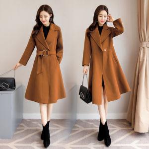 Venda por grosso senhores camada colorida mulheres Lã Cashmere casaco de Inverno
