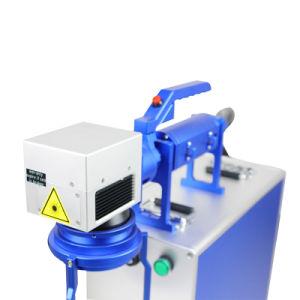 laser die van de Vezel van de Contactdoos van 100X100mm de Plastic Draagbare Machine merkt