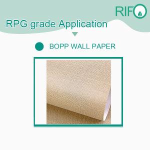Gran rigidez BOPP, papel sintético para etiquetas o tags