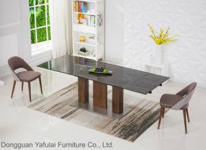 Una extensión moderna vidrio cerámico de acero de madera juego de mesa de comedor Muebles