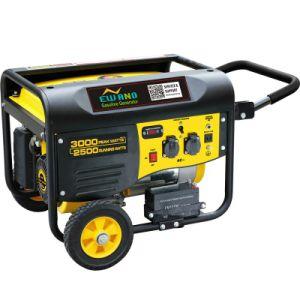 Ohv Air-Cooled 2.6kw generador de gasolina con asa y ruedas