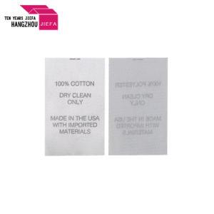 Comercio al por mayor de satén de poliéster/Lavado de ropa de etiqueta de cuidado de la impresión de etiqueta impresa