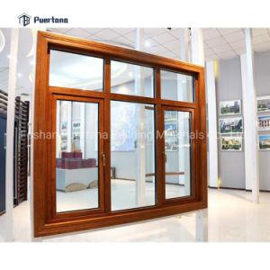 La madera de aluminio revestido de madera de roble Casement ventana en las ventas