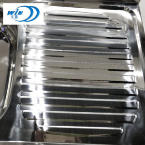 Dispersore di cucina delle ciotole del doppio dell'acciaio inossidabile con Drainboard nel Sudamerica
