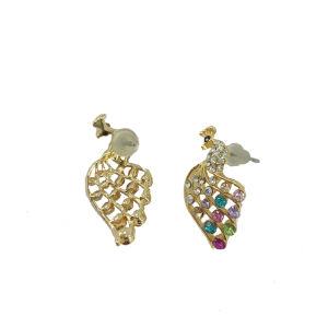 Crystal Animal Peacock Earrings