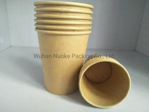 Consommation de papier Kraft à paroi simple tasse de café thé Conteneur de liquide