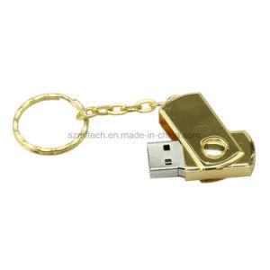 レーザーの金16GB金属の旋回装置USBのペン駆動機構のフラッシュディスク