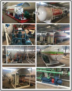 Торговая марка Clw Chengli 3 осей сосуд высокого давления для пропана 58.5m3 СИСТЕМА ПИТАНИЯ СЖИЖЕННЫМ ГАЗОМ танкера 60000прицепа литров Полуприцепе газового баллона