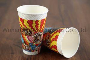 Mur d'ondulation personnalisé à double paroi boisson chaude tasse de café/thé