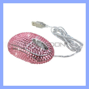 MiniWired Opitical Mouse, Bling Mouse für Laptop/Notebook/PC (Mouse-361)