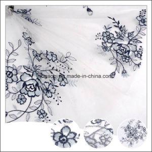 熱い販売の卸売の快適な結婚式によって刺繍されるテュルファブリック