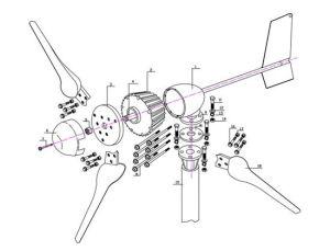 격자 시스템 해결책에 격자 떨어져를 위한 1kw 바람 발전기