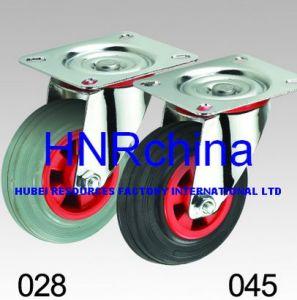 검정과 Grey Rubber Wheel Industrial Caster
