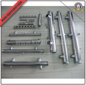 Roscada de acero inoxidable de diseño personalizado del colector en los sistemas de bombeo (YZF-E67)