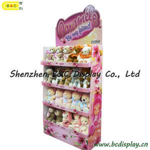 Angefülltes Spielwaren-Papierbildschirmanzeige-Regal, Plüsch-Spielzeug-Pappbildschirmanzeige (B&C-A078)