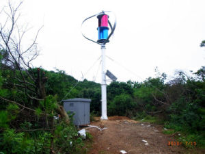 2kw AC 120V de Verticale Wind In drie stadia Turbinre van de As voor het Gebruik van het Huis