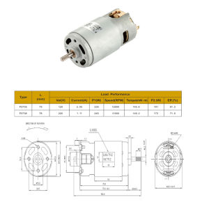 Personalizar 4000-16000rpm de motor DC procesador de alimentos para la batidora