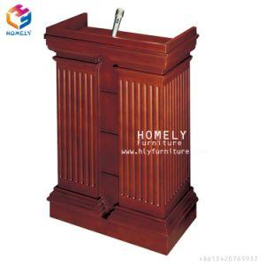 Mobiliário de madeira clássico Tribuna caseira para o átrio do Hotel e Restaurante
