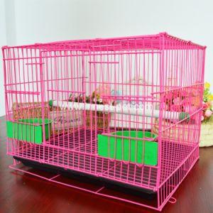 Китай оптовая торговля металлическими розового цвета сетки каркаса птиц, Попугай отсека для жестких дисков