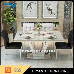 Mobiliário de mesa de jantar em mármore 2017 Conjunto de jantar mesa de jantar