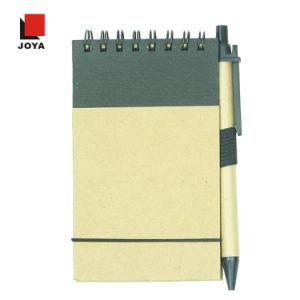 新しい昇進のギフト多彩な螺線形はさみ金の黄色のペーパーノート