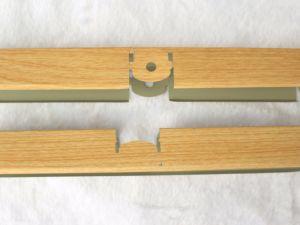 La Chine de gros de revêtement en bois de belle couleur suspendu au plafond en aluminium