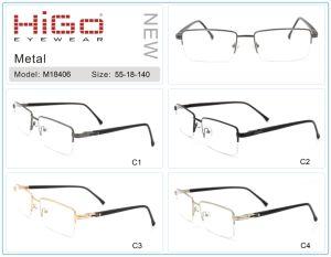 De helft-Rand van de klant het Favoriete Goedkope Zachte Optische Frame Van uitstekende kwaliteit van het Metaal
