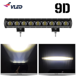 Lente del proyector 9D de la barra de luz LED única fila Offroad camión tractor